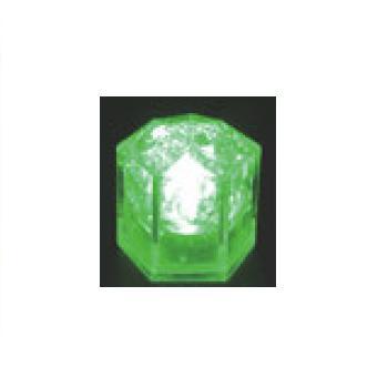光る氷 ライトキューブ・クリスタル(24入)グリーン【保冷材】