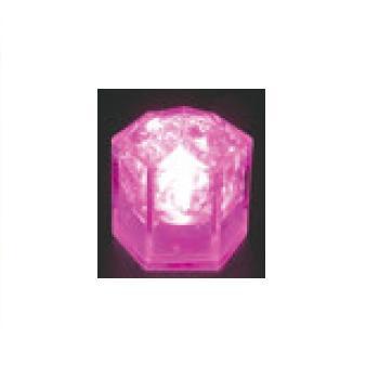 光る氷 ライトキューブ・クリスタル(24入)ピンク【保冷材】