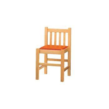 業務用和風椅子 白木塗(座 茶レザー)低 ブナ材【飲食店椅子】【業務用椅子】【和食飲食店備品】【木製椅子】
