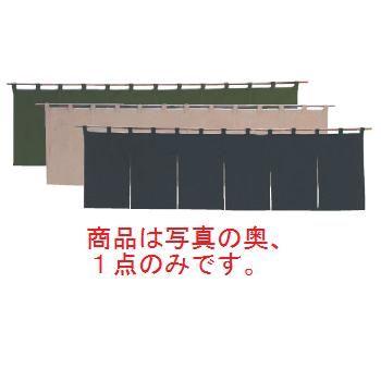 綿麻無地 のれん 001-10 緑 1700×450【飲食店のれん】【暖簾】