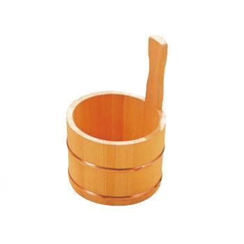 さわら 片手 湯桶 銅タガ D-33-03【木製手桶】【温泉】【ホテル】【旅館】【浴室】【風呂】