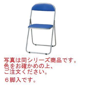 折りたたみ椅子 CF-100T(6脚入)ブルー【折りたたみ椅子】【パイプ椅子】【スチール椅子】【ホール備品】【会議室備品】