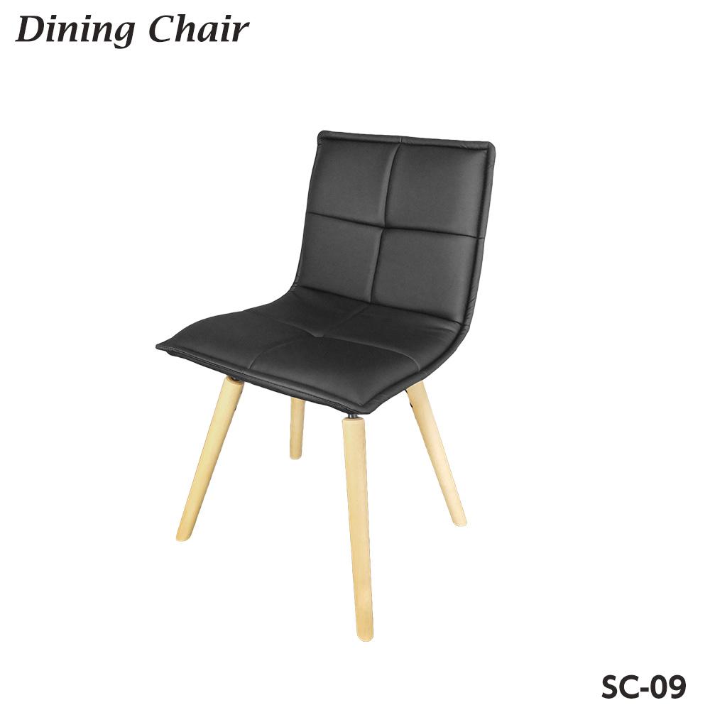 ダイニングチェア 背もたれ 木製椅子 SC-09 ブラック☆ ウォルナット調 キッチンチェア 北欧 【送料無料】