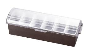 コンジメントディスペンサー 4743 6ヶ入 ブラウン TRAEX (レギュラータイプ)【収納】【ケース】【仕訳】【ストック】【ディスペンサー】【業務用】