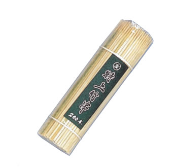 厨房用品ならOPENキッチン!(11-0266-1001) 竹串 角(200本入) 135mm【串】【クシ】【焼串】【バーベキュー】【業務用】