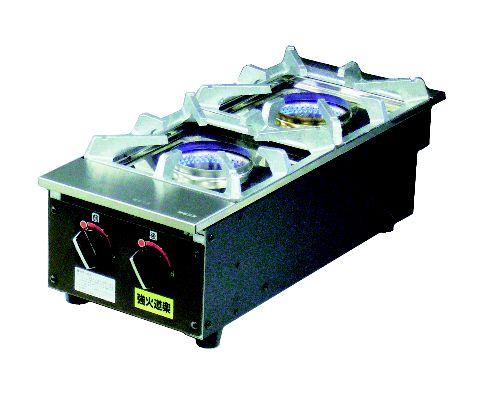 テーブルコンロ KNB-2 (ステンレス製 内炎バーナー) (ガス種:都市ガス) 13A【建厨】【ガステーブル】【ガスコンロ】【卓上コンロ】【業務用】