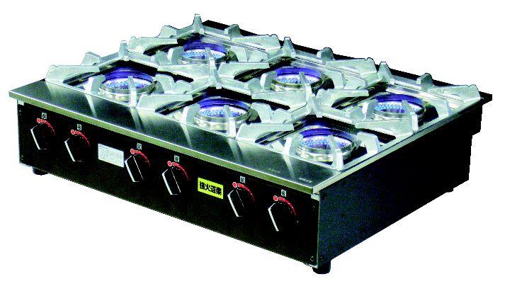 テーブルコンロ KNB-6 (ステンレス製 内炎バーナー) (ガス種:プロパン) LP【代引き不可】【建厨】【ガステーブル】【ガスコンロ】【卓上コンロ】【業務用】