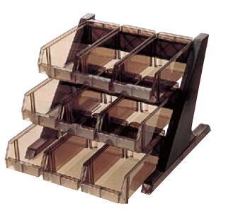 BKオーガナイザー 3段3列 O-3-3-B【フォーク収納 ナイフ収納】【カトラリー入れ】【業務用】