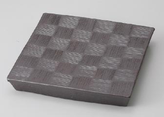 炭化ラスター 正角台皿(L)