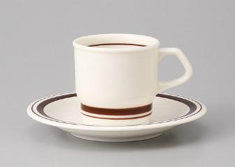 ■3個セット■茶Wライン コーヒーC/S