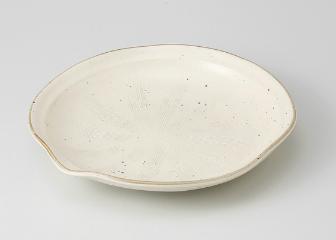 ■3個セット■粉引釉彫込 8.0片押皿
