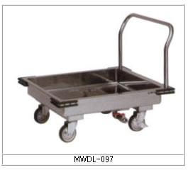 マルゼン 厨房用ワゴン(ドライシステム仕様) MWDL-097 ドライL型運搬車【代引き不可】【業務用】【カート】【台車】【水受けワゴン】【衛生ワゴン】