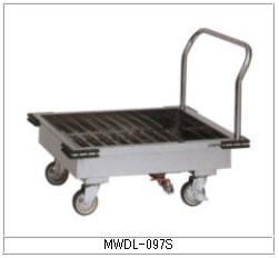 マルゼン 厨房用ワゴン(ドライシステム仕様) MWDL-097S ドライスノコ付L型運搬車【代引き不可】【業務用】【カート】【台車】【水受けワゴン】【衛生ワゴン】