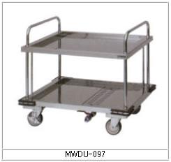 マルゼン 厨房用ワゴン(ドライシステム仕様) MWDU-097 ドライ運搬車【代引き不可】【業務用】【カート】【2段ワゴン】【水受けワゴン】【衛生ワゴン】
