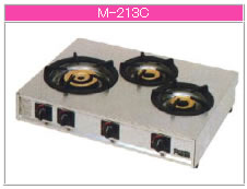 マルゼン ガス式 ガステーブルコンロ《親子》 M-213C【代引き不可】【業務用 ガスコンロ】【テーブルコンロ】