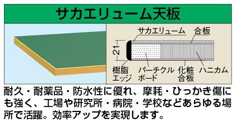 軽量作業台KKタイプ・キャビネットワゴン付KKF-127J【き】