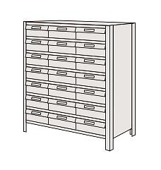 LEK8128-21T【代引き不可】 物品棚LEK型樹脂ボックス