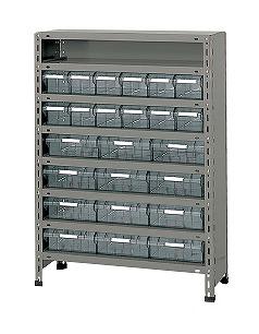 LEK8128-24T【代引き不可】 物品棚LEK型樹脂ボックス