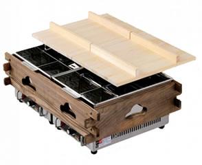 エイシン 業務用電気おでん鍋(4ッ切×2) CVS-8S【代引き不可】【【おでん鍋】【業務用おでん鍋】【電気式】