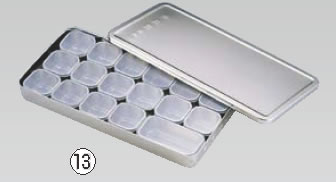 MA18-8検食容器 A型(大1個・小16個入)【ステンレス製検食容器】【18-8ステンレス】【MA】【業務用】
