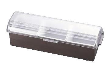 コンジメントディスペンサー ワイド 4742 3ヶ入 ブラウン【薬味容器】【薬味入れ】【業務用保存容器】【TRAEX】【業務用】