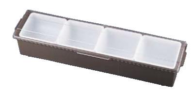 コンジメントディスペンサー ワイド 4745 4ヶ入 ブラウン【薬味容器】【薬味入れ】【業務用保存容器】【TRAEX】【業務用】