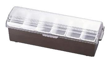 コンジメントディスペンサー レギュラー 4743 6ヶ入 ブラウン【薬味容器】【薬味入れ】【業務用保存容器】【TRAEX】【業務用】