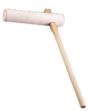 手造り木製キネ 大 【うす きね】【臼 杵】【イタヤカエデ】【業務用】