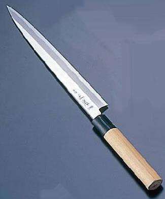正本 本霞・玉白鋼 柳刃刺身庖丁(片刃) 27cm【業務用包丁】【和包丁】【ナイフ】【和食包丁】【業務用】