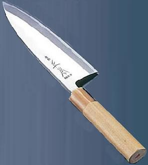 正本 本霞・玉白鋼 出刃庖丁(片刃) 21cm【代引き不可】【業務用包丁】【和包丁】【ナイフ】【和食包丁】【業務用】