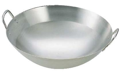 18-8 中華鍋 42cm【鼎】【丸底鍋】【業務用】