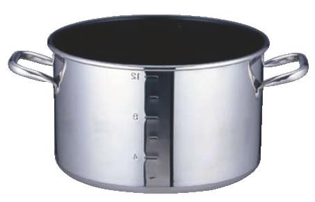 SAパワー・デンジ アルファ 半寸胴鍋 24cm(蓋無)目盛付