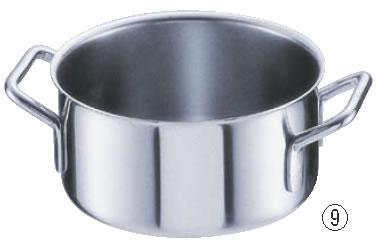 シットラムイノックス18-10半寸胴鍋 三重底 (蓋無)22B 22cm