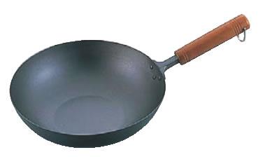 純チタン 木柄いため鍋 26cm 【チタンフライパン】【業務用フライパン】【業務用】