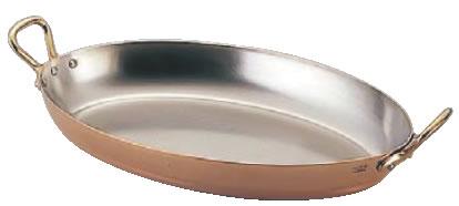モービルカパーイノックス両手オーバルパン 6524.35 35cm【代引き不可】【銅フライパン】【mauviel】【業務用】