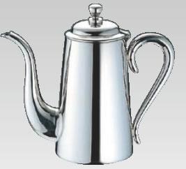 【在庫あり】 UK18-8M型コーヒーポット 3人用【ステンレスティーポット】【業務用】, 阿久比町 66658360