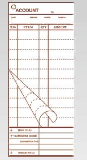 会計伝票 2枚複写 K612 (50枚組×20冊入)【伝票紙】【業務用】