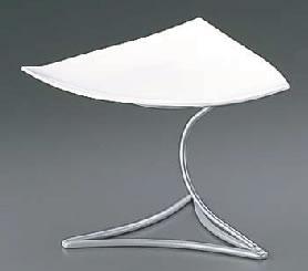 ML アイアンシェイププレートスタンド Cod.408.01ホワイト【装飾台】【バイキング ビュッフェ】【バンケットウェア】【皿】【Martelato】【業務用】