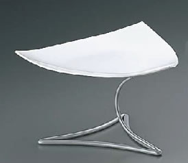ML アイアンシェイププレートスタンド Cod.407.01ホワイト【装飾台】【バイキング ビュッフェ】【バンケットウェア】【皿】【Martelato】【業務用】