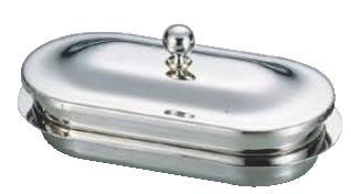 UK18-8ロイヤルバターディッシュ 小判型【バイキング ビュッフェ】【バンケットウェア】【皿】【18-8ステンレス】【業務用】