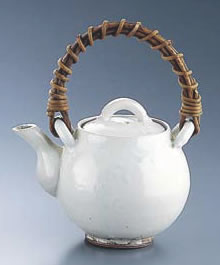 粉引 土瓶 H-010 大(4合)【土瓶】【お茶入れ】【急須】【業務用】