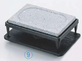石焼コンロセット 大 ST-403【代引き不可】【石焼プレート】【石焼皿】【業務用】