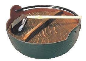 五進 田舎鍋(鉄製内面茶ホーロー仕上) 21cm(杓子付) 【鍋料理】【田舎鍋】【深型鍋】【いろり鍋】【やまが鍋】【ふる里鍋】【故郷鍋】【業務用】