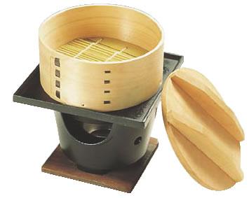 桧 丸セイロコンロセット (湯入れ付) 【蒸篭 セイロ せいろ】【業務用】:OPEN キッチン