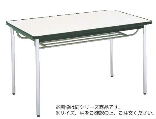 テーブル(棚付) MT2713 (A)チーク【代引き不可】【会議室テーブル】【食堂用テーブル】【会議テーブル】【業務用】