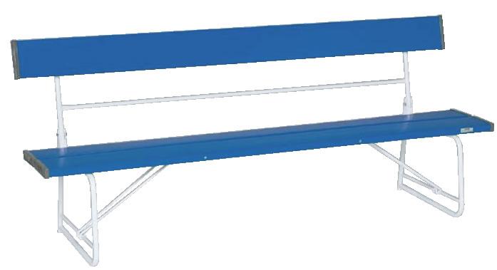 折りたたみ式背付ベンチ 1800 BC-300-018 青【代引き不可】【いす】【イス】【ベンチ】【業務用】