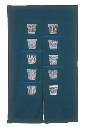 半間のれん 藍染 そばちょこ NID3045【のれん】【飲食店のれん】【暖簾】【業務用】