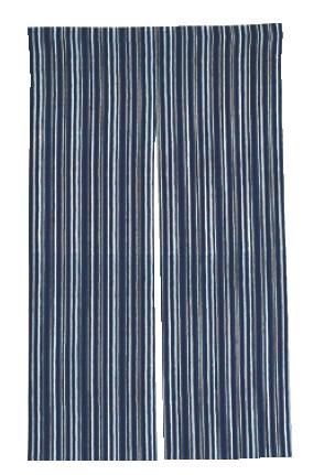 半間のれん 藍染 京縞【のれん】【飲食店のれん】【暖簾】【業務用】