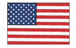 エクスラン万国旗 70×105cm アメリカ【店内装飾】【業務用】