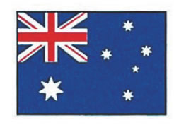 エクスラン万国旗 70×105cm オーストラリア【店内装飾】【業務用】